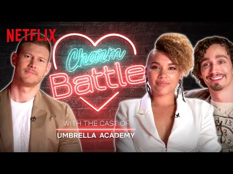 Flirting with Tom Hopper and Robert Sheehan of Umbrella Academy | Charm Battle | Netflix