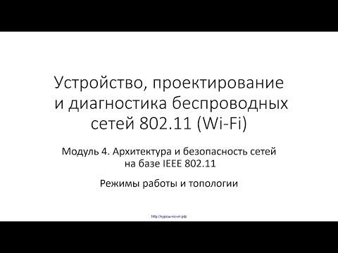 ✅ Устройство Wi-Fi. Модуль 5. 03 Режимы работы и топологии