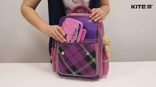 """Рюкзак школьный Kite Сollege line K18-736М-1 от компании Интернет-магазин """"Радуга"""" - школьные рюкзаки, канцтовары, творчество - видео"""