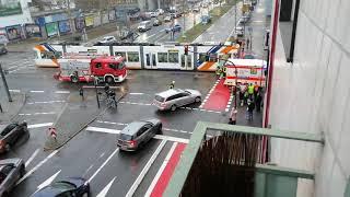 Straßenbahnunfall. Komplettsperrung. Ludwigshafen