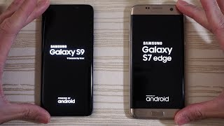Samsung Galaxy S9 vs S7 Edge - Speed Test!