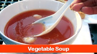 Healthy vegetable soup recipe/Indian easy carrot,cabbage mix veg soups recipes-let's be foodie