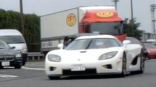 【諸星一家】ケーニグセグなどスーパーカーがPAから出撃!!/Supercar Acceleration In JAPAN