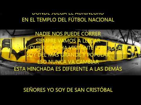 """""""Señores yo soy de San Cristóbal"""" Barra: Avalancha Sur • Club: Deportivo Táchira"""