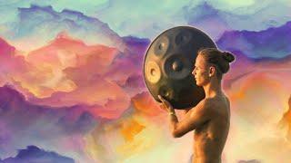 Hang Drum + Tabla + Flute Music | Mystical Yoga Music | Relaxing Music with Bird Sounds + Rain