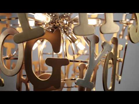 Video for Media Stainless Steel and Multi-Leaf 24-Inch Six-Light Pendant