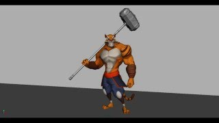 Anthro Tiger Idle Animation