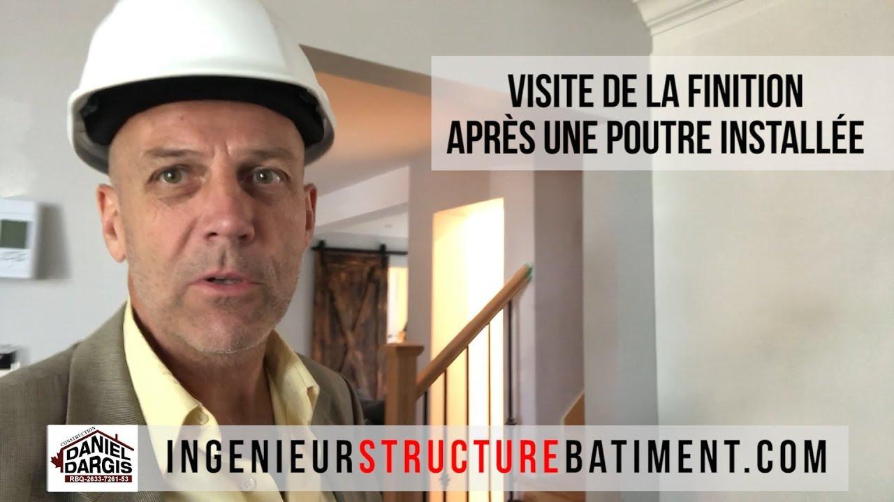 Finition poutre et colonnes - Daniel Dargis ingénieur en structure à Montréal