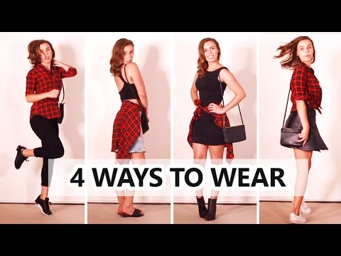 How to Style Flannel Plaid Shirt | Autumn and Spring!