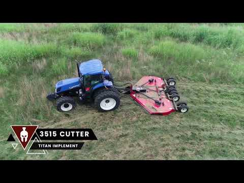 """2021 Titan Equipment Cutter 15' Batwing 6-26"""" Laminated Tires in Tupelo, Mississippi - Video 1"""