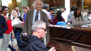 Dude TAMES Piano in Noisy Train Station