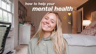 take control of your mental health! (TIPS)