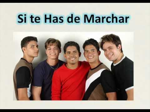 SI TE HAS DE MARCHAR - ADOLESCENTES (LETRA)