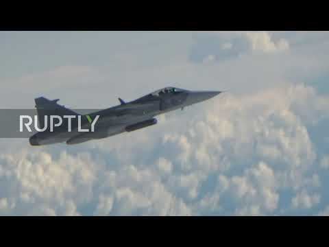 At sea: Russian bombers escorted by foreign jets above Baltic Sea