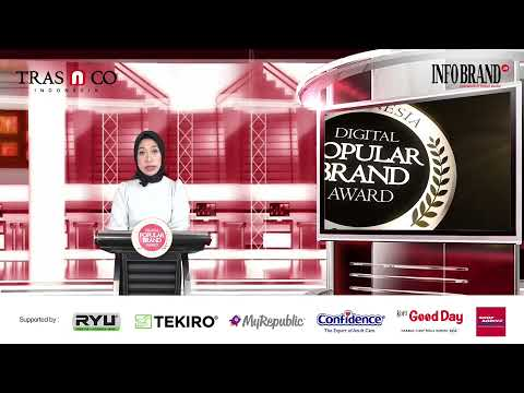 Sambutan CEO INFOBRAND Group di Virtual Award Ceremony Indonesia Digital Popular Brand Award 2021