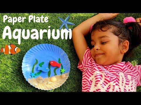 DIY Aquarium | Paper Plate Aquarium | Aquarium Craft | Paper Plate Craft