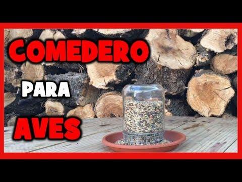 COMO HACER COMEDERO CASERO PARA PAJAROS | COMEDERO ARTESANAL PARA AVES PASO A PASO