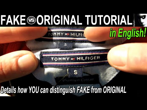 "Fake vs Original ""The Tommy Hilfiger Tutorial"" [English Version]"