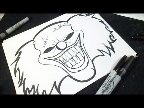Comme faire le masque du clown sur la personne
