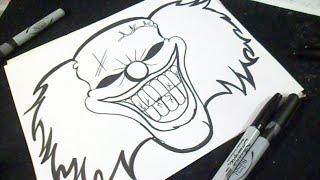 Comment dessiner un fant me graffiti 123vid - Dessiner un clown ...