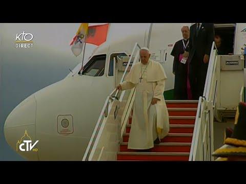 Accueil du Pape François en Albanie
