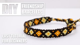 DIY Diamonds & Dots Friendship Bracelets  | Easy Tutorial For Beginners