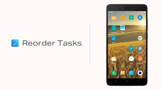 Reorder Tasks