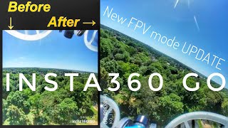 "Insta360 GO Great Update for Rolls and Flips - ""FPV Stabilization Mode""┃ドローンに載せるならコレ!"
