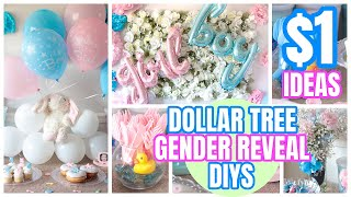 DOLLAR TREE GENDER REVEAL│BABY SHOWER│DIY & IDEAS