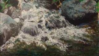 preview picture of video 'A Stream in the Golan - The making of a painting'