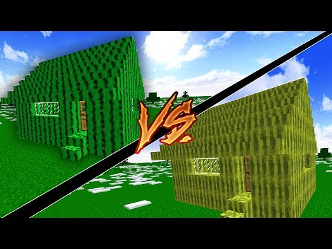 KAKTÜS EV VS KARPUZ EV (Minecraft)