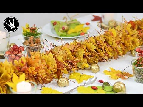 Herbstschmuck für den Tisch - Jetzt fallen die Blätter