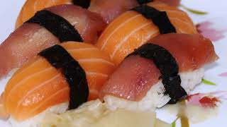 Fresh Delicious Salmon Sushi By Canon 70d