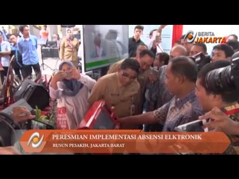 Sumarsono Resmikan Implementasi Absensi Elektronik di Rusun Pesakih
