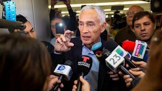 Jorge Ramos habla con la prensa tras ser detenido en Venezuela
