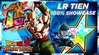 UNDERRATED LR! 100% LR Tien Showcase | DBZ Dokkan Battle
