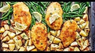 Sheet Pan Lemon Parmesan Garlic Chicken & Veggies