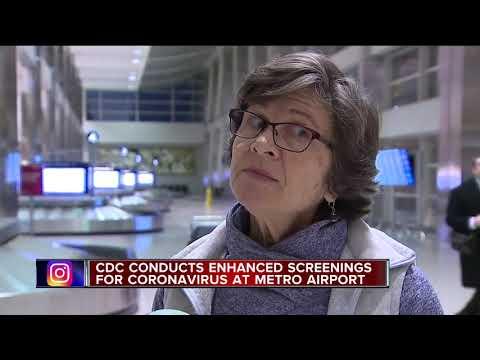 Detroit Metro Airport is now screening for coronavirus