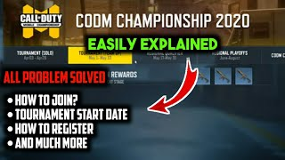 How to Join CODM Championship Tournament 2020 | CODM Tournament Explained In Details |