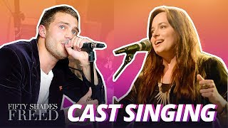 Jamie Dornan & Dakota Johnson Singing (Real Voice)