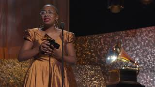 Cécile McLorin Salvant Wins Best Jazz Vocal Album   2019 GRAMMYs Acceptance Speech