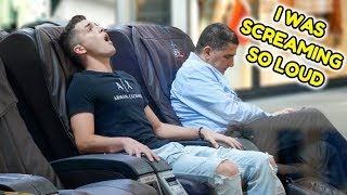 Moaning During Massages Prank