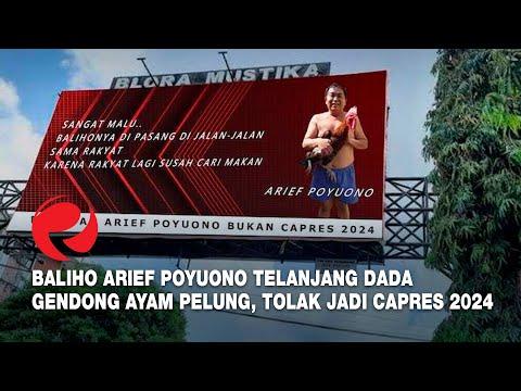 Geger, Baliho Arief Poyuono Telanjang Dada Gendong Ayam Pelung, Tolak Jadi Capres 2024