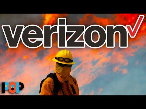 Verizon THROTTLED Cell Data For First Responders Fighting WILDFIRES