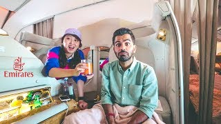 الدرجة الأولى على طيران الاماراتية !! غرفة نوم