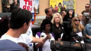 Occupy Fox Studios rally in Los Angeles, Oct. 21, 2011