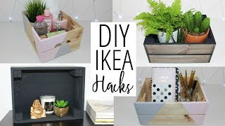 DIY Ikea And Pinterest Inspired Hacks - Crate Storage Ideas   Ep 4