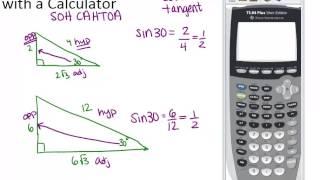 Trigonometric Ratios With A Calculator: Lesson (Geometry Concepts)