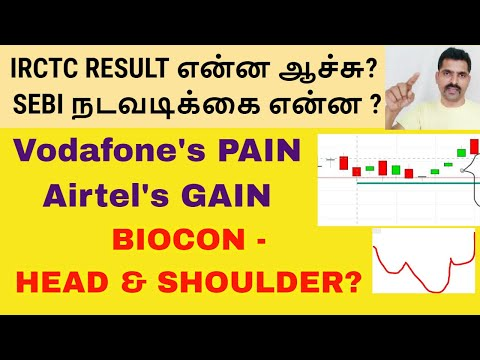 IRCTC RESULT| BIOCON HEAD & SHOULDER? |  Tamil Share |Vodafone's PAIN Airtel's GAIN | Intraday Trade