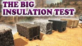 ARK Scorched Earth - BIG INSULATION TEST + PVP BASE BUILD (ADOBE INSIDE METAL LAYERS)  Building Tips